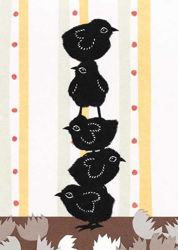 Stack o' Chicks Baby Card from Artists to Watch