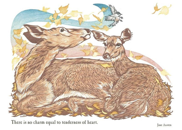 Doe & Fawn Blank Card from Artists to Watch