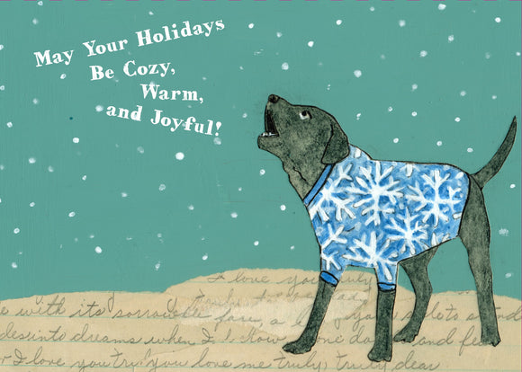 Barking at Snowflakes Holiday Card from Artists to Watch