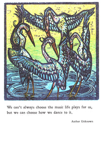 Heron Dance Birthday Card from Artists to Watch