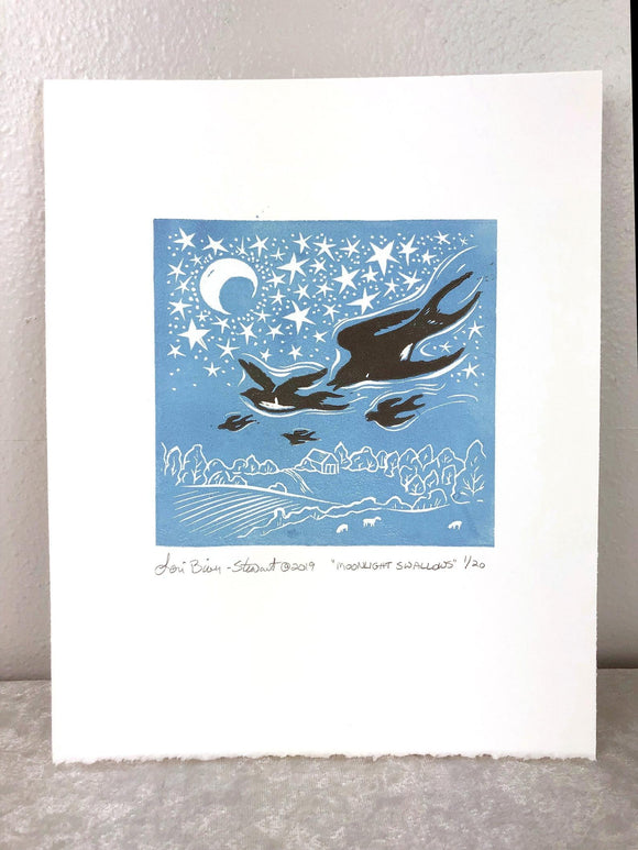 Moonlight Swallows by Lori Biwer-Stewart