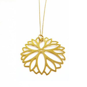 Zinnia Necklace by Daphne Olive