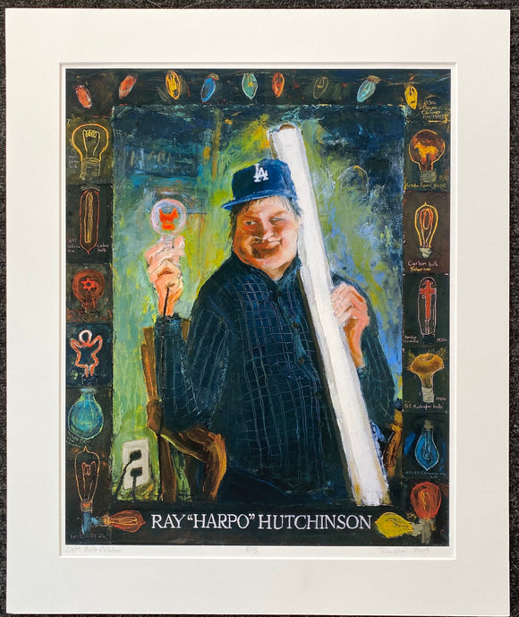 "Ray ""Harpo"" Hutchinson, Light Bulb Collector reproduction by Tim Olson"