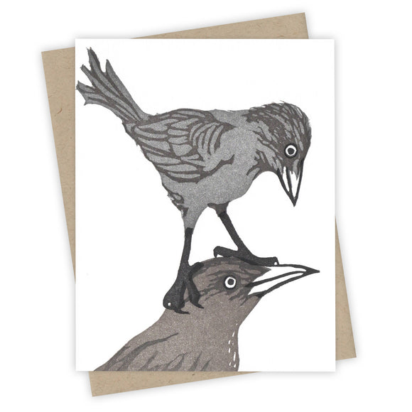 Piggyback Grackle Card by Burdock & Bramble