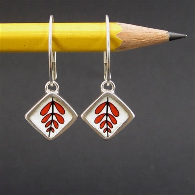 Geometric Modern Reversible White and Black Earrings by Mark Poulin