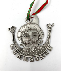 Father Christmas Ornament by Leandra Drumm Designs