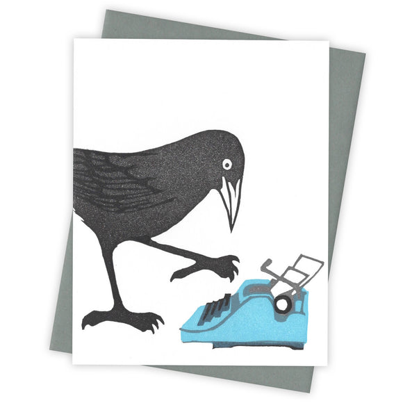 Hunt and Peck Grackle Card by Burdock & Bramble
