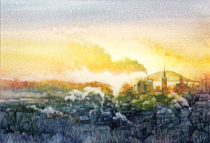 Dubuque Sunrise Reproduction by Alda Kaufman