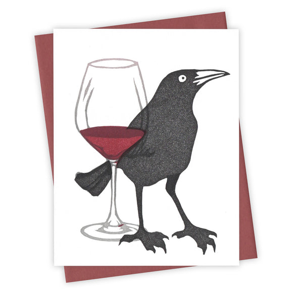 Uncorked Grackle Card by Burdock & Bramble