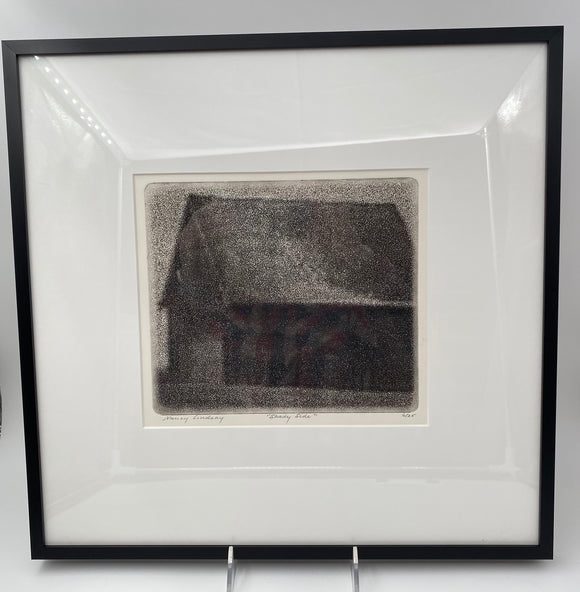 Shady Side Framed Etching by Nancy Lindsay