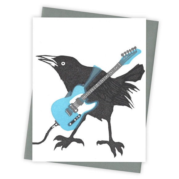 Sound Check Grackle Card by Burdock & Bramble