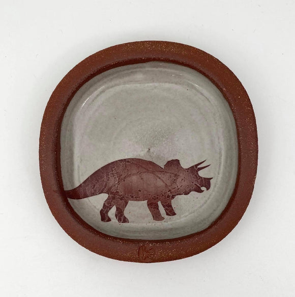 Triceratops Small Plate #2 by Keith Hershberger