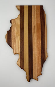Illinois Cutting Board by Dickinson Woodworking