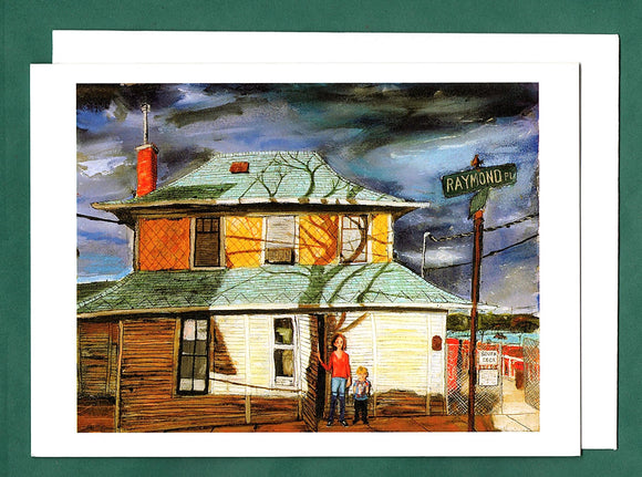 Raymond and Fenelon Place Greeting Card by Tim Olson