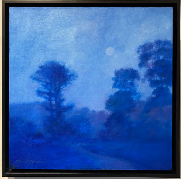 Moonlight on Valley Trail by Nancy Lindsay