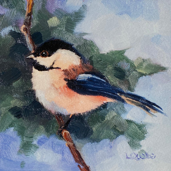 Chickadee Reproduction by Liz Quebe