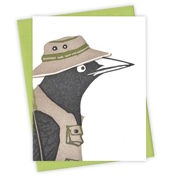 Tackle Box Grackle Card by Burdock & Bramble