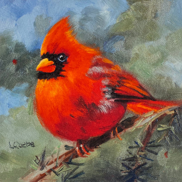 Cardinal Reproduction by Liz Quebe