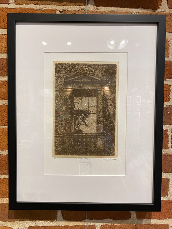 Boston Ivy Framed Etching by Nancy Lindsay