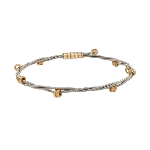 Two-tone Ball End Bangle by High Strung Studio