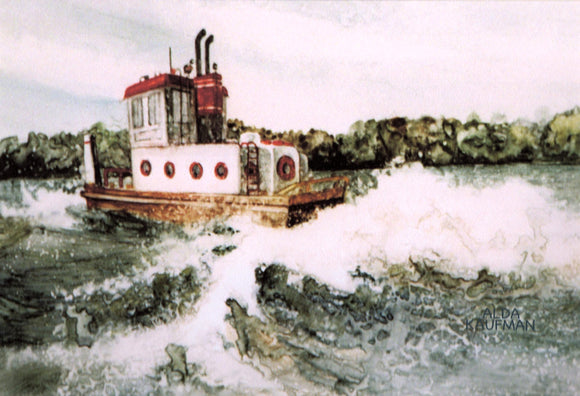 Tug Boat Reproduction by Alda Kaufman