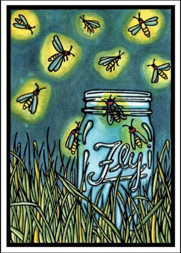 Fireflies Greeting Card by Sarah Angst