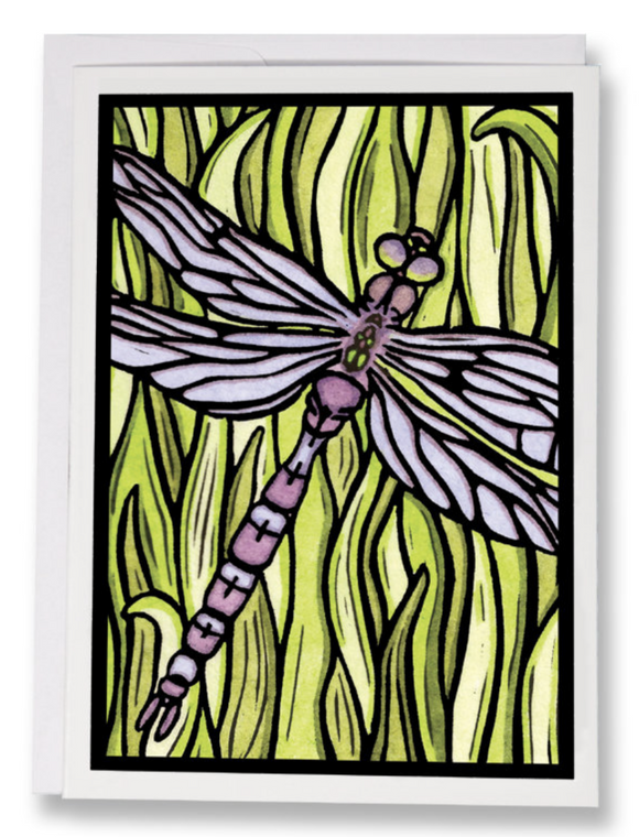 Dragonfly Greeting Card by Sarah Angst
