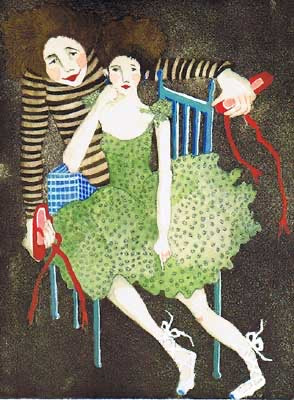 The Seduction of the Red Shoes giclee reproduction by Beth Bird