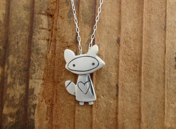 Fox Love Necklace by Mark Poulin