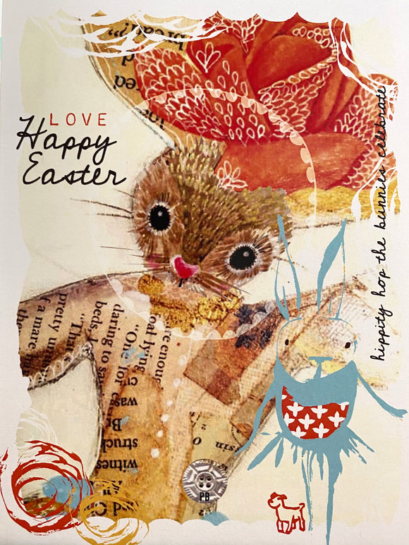 Hippity Hop Easter Greeting Card by Kelli May-Krenz