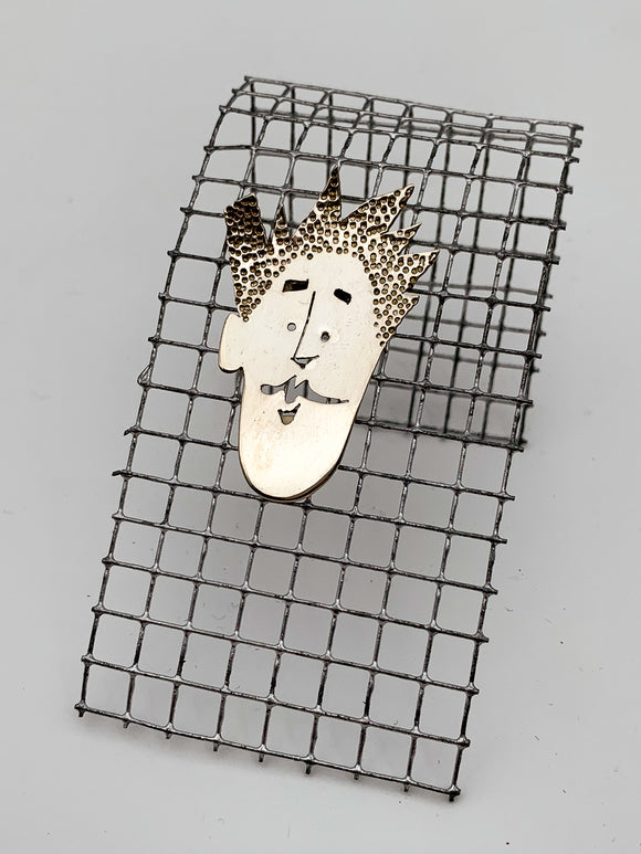 Face Pin by Janet Rubenstein