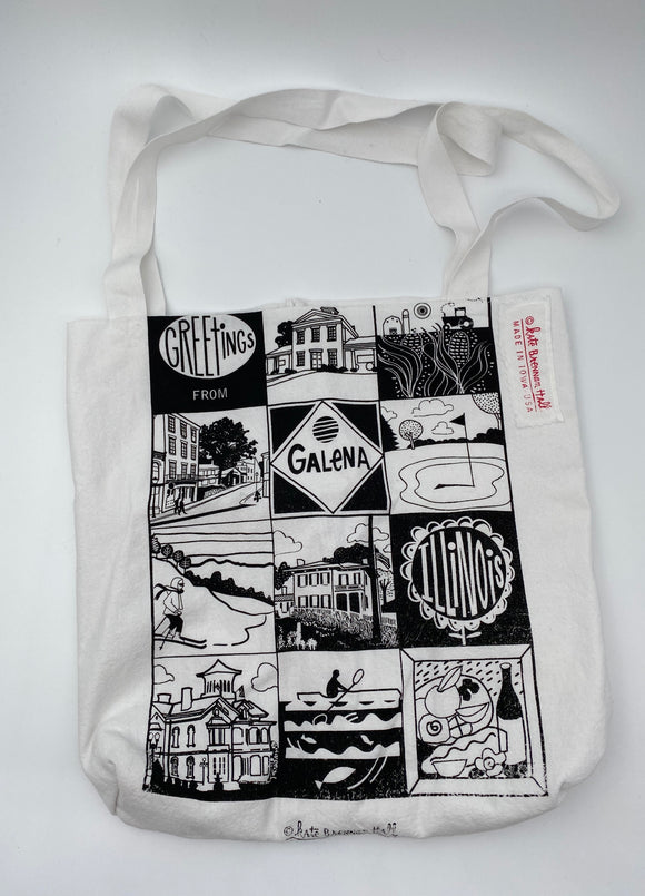 Greetings from Galena, Illinois Tote Bag by Kate Brennan Hall
