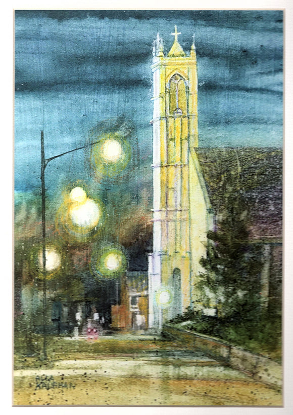 Cathedral Evening Reproduction by Alda Kaufman