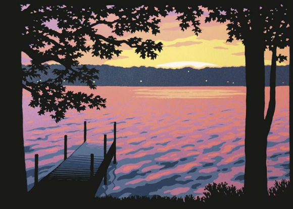 Lake View Blank Card from Artists to Watch