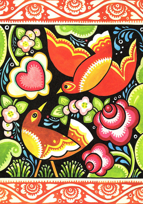 Love Birds Card from Artists to Watch