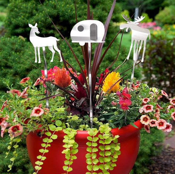 Campy Garden Picks by Metal Petal Art