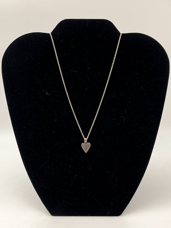 Feather Heart Necklace by Mark Poulin