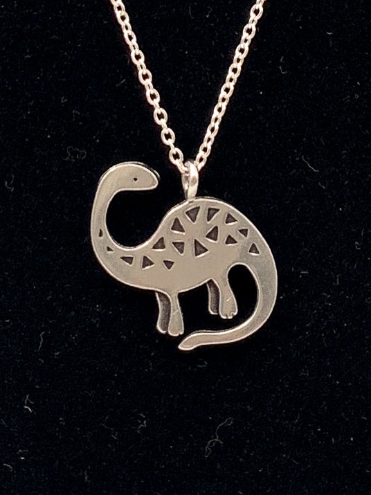 Brontosaurus Necklace by Mark Poulin