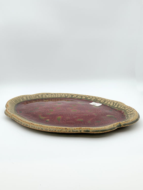 Oval Platter by Ray Pottery