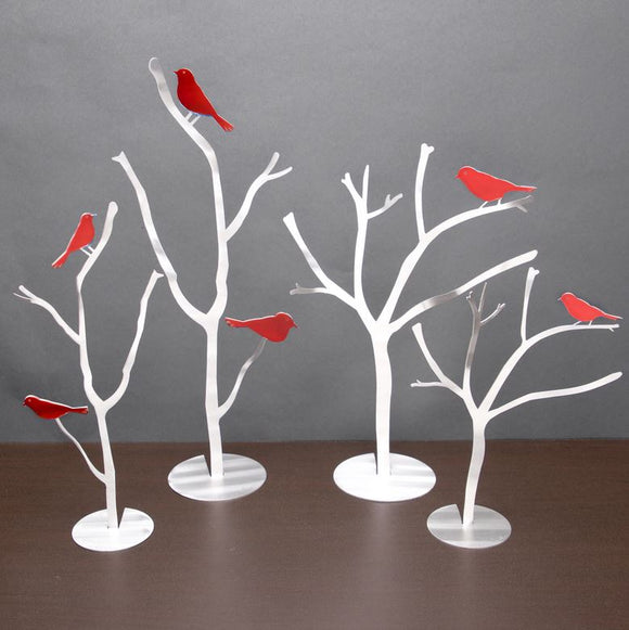 Bird Branches Sculpture by Metal Petal Art