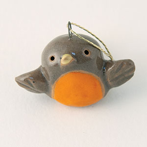 "Robin Ceramic ""Little Guy"" Ornament by Cindy Pacileo"