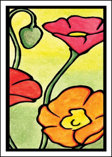 Poppies Greeting Card by Sarah Angst