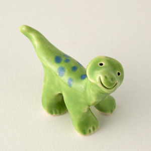 "Dinosaur ""Stretch"" Ceramic ""Little Guy"" by Cindy Pacileo"