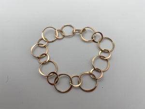 Heavy Circle Chain Bracelet by Thomas Kuhner