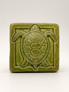 "4x4"" Turtle Tile by Whistling Frog"