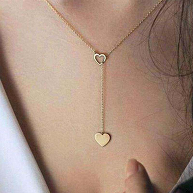 Full of Love Lariat Necklace Necklace elliesage Gold