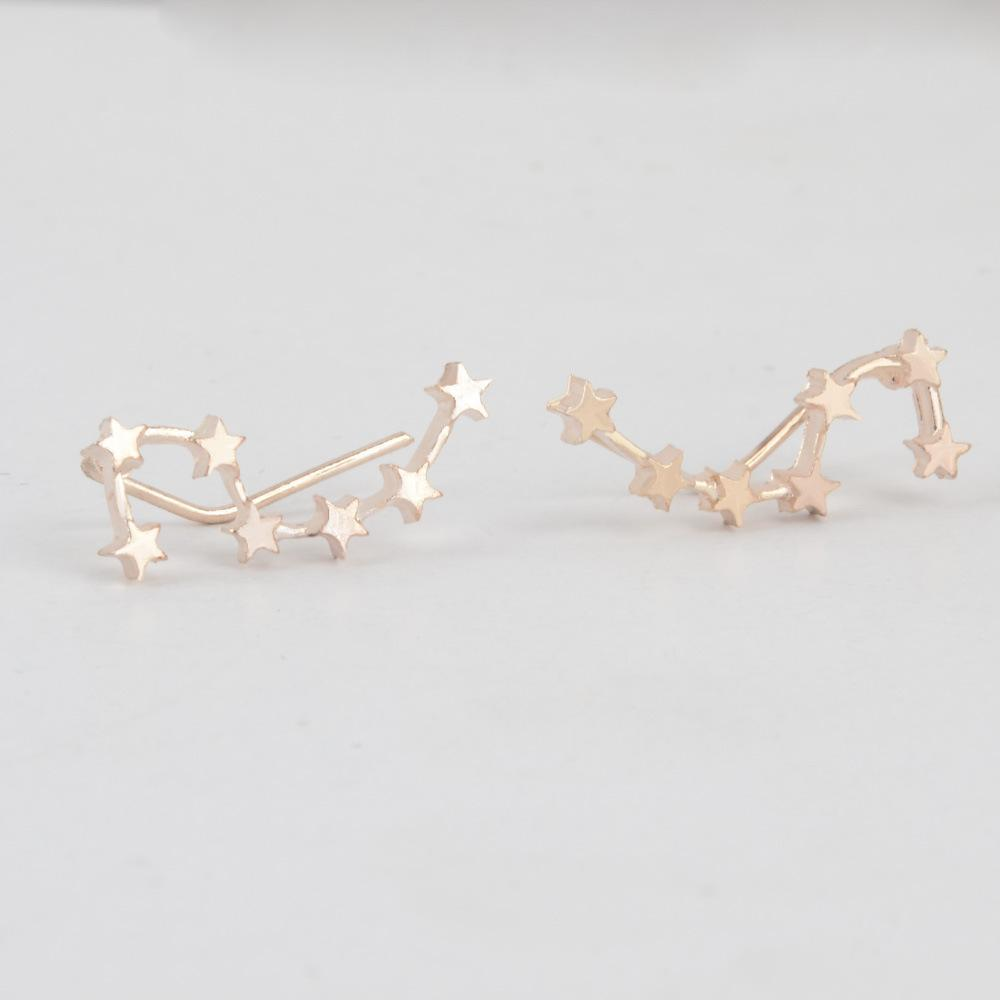 Galaxy Ear Crawlers Earrings Ellie Sage Gold