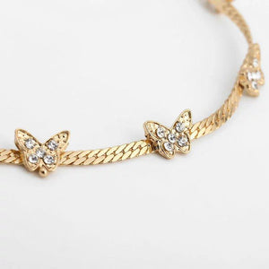 """I Am Unstoppable"" Butterfly Choker Necklace elliesage Gold"