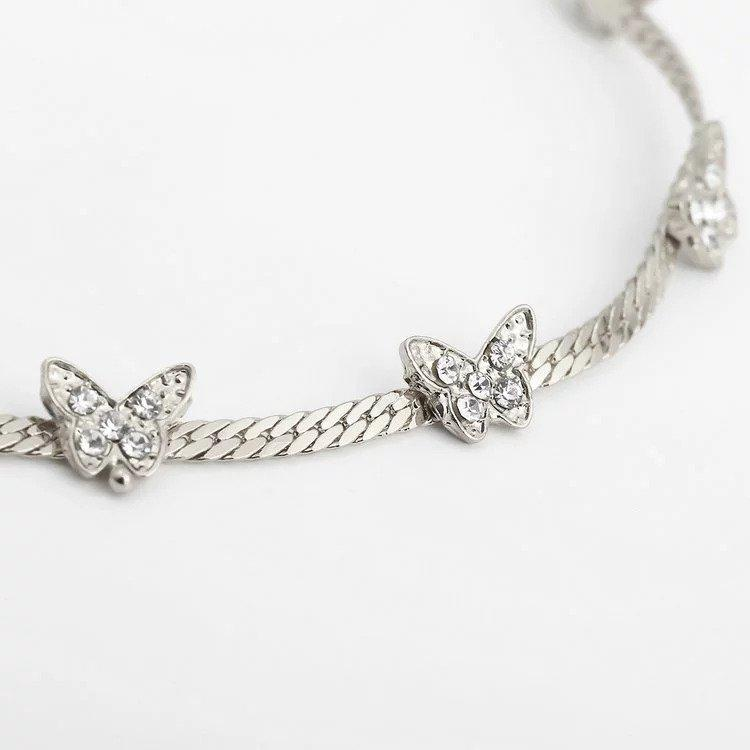 """I Am Unstoppable"" Butterfly Choker Necklace elliesage Silver"