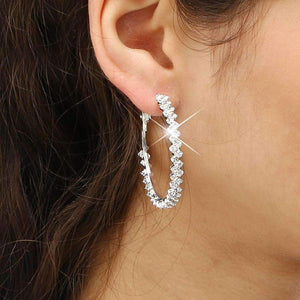 Inner Light Crystal Hoop Earrings Earrings Ellie Sage